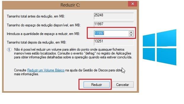 Criar nova partição no Windows 8 Principal