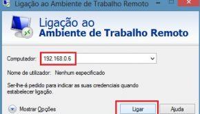 Remote Desktop Windows (Ligação Ambiente Trabalho Remoto) 2
